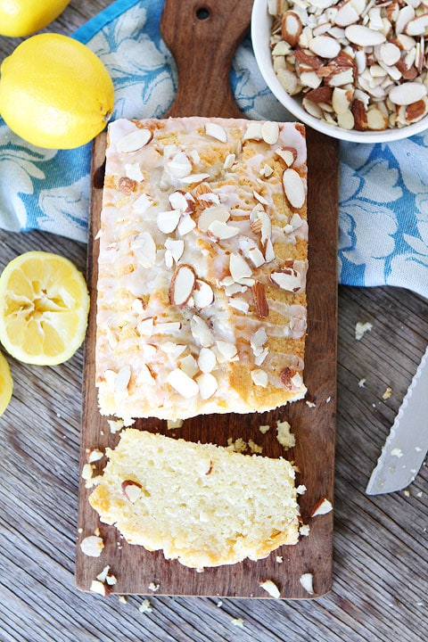 Lemon Almond Bread Recipe on twopeasandtheirpod.com Make a loaf today!