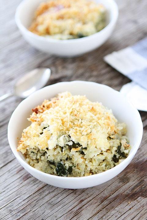 Spinach and Artichoke Quinoa Bake Recipe | Quinoa Bake | Two Peas ...
