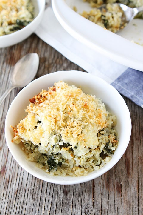 Spinach and Artichoke Quinoa Bake Recipe | Quinoa Bake | Two Peas ...