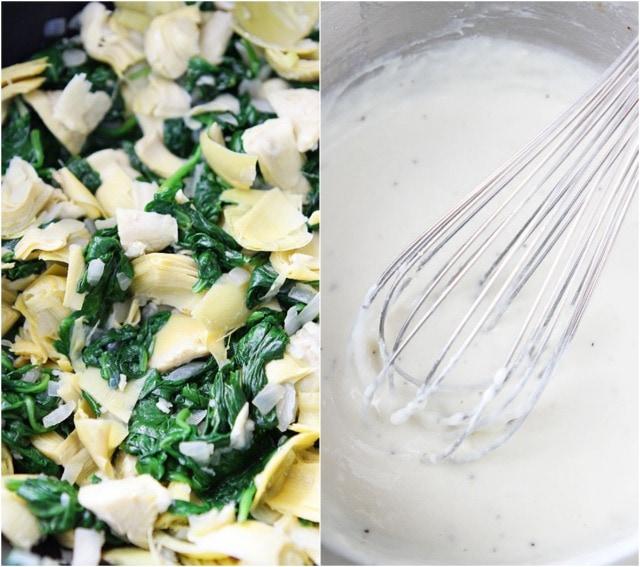 Spinach and Artichoke Quinoa Bake Recipe on twopeasandtheirpod.com