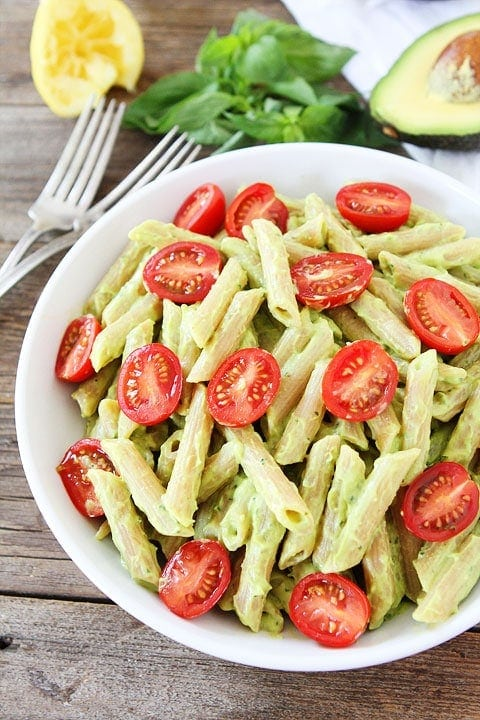 Avocado Goat Cheese Pasta