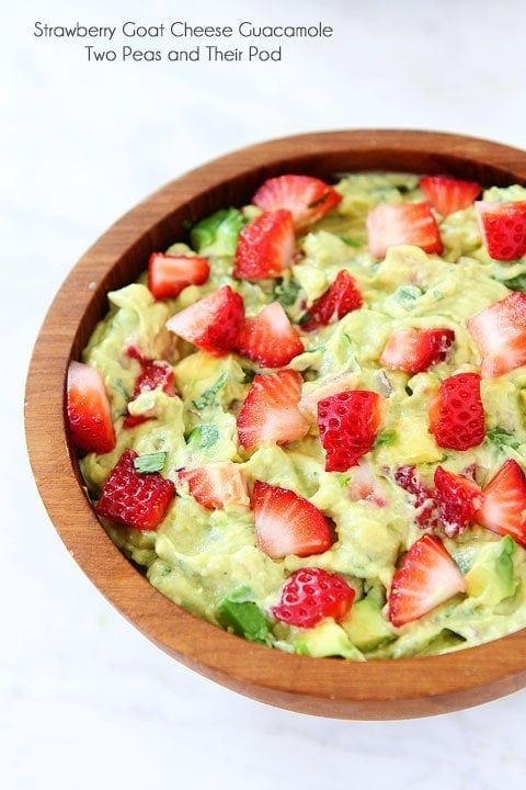 Strawberry Goat Cheese Guacamole | Guacamole Recipe | Two Peas & Their ...