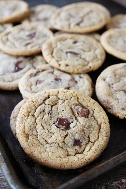 Brown Butter Toffee Chocolate Chunk Cookies | Two Peas & Their Pod