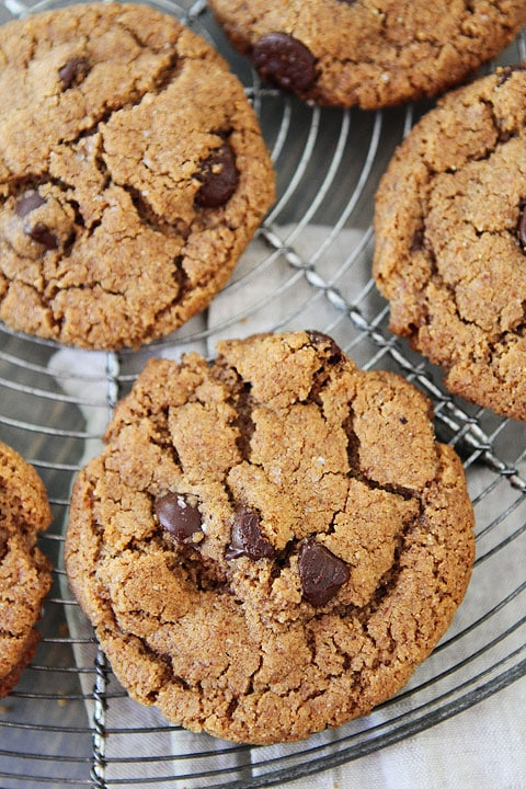 Chocolate chip almond butter cookies recipe