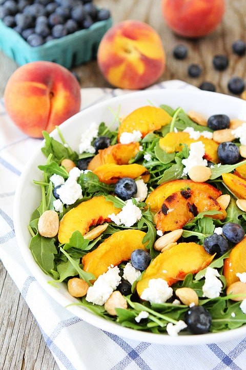 Grilled peach salad recipes