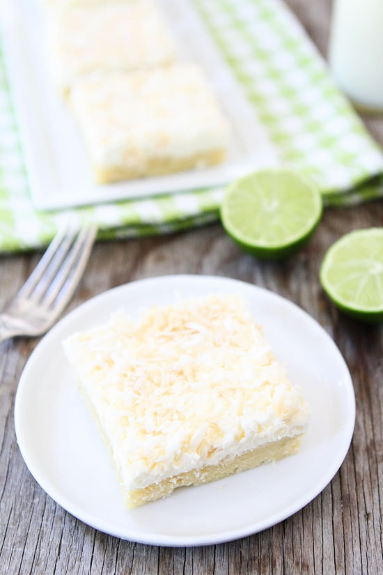 Coconut Lime Sugar Cookie Bars-easy sugar cookie bars with lime and ...