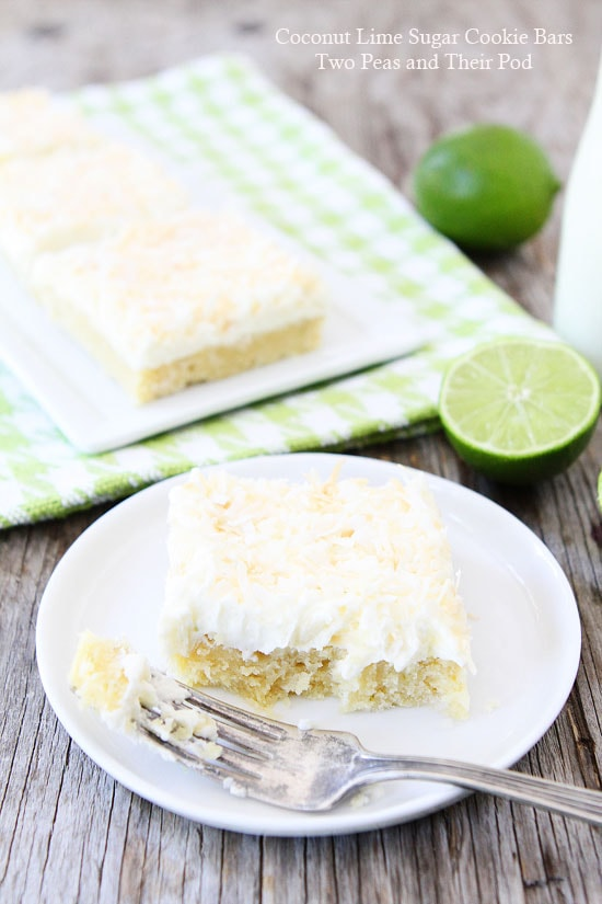 Lime And Coconut Crumble Bars Recipe — Dishmaps