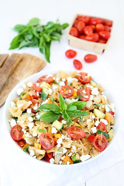 Easy Summer Pasta Salad Recipe on twopeasandtheirpod.com The perfect salad for all of your summer BBQ's and potlucks! #salad #summer