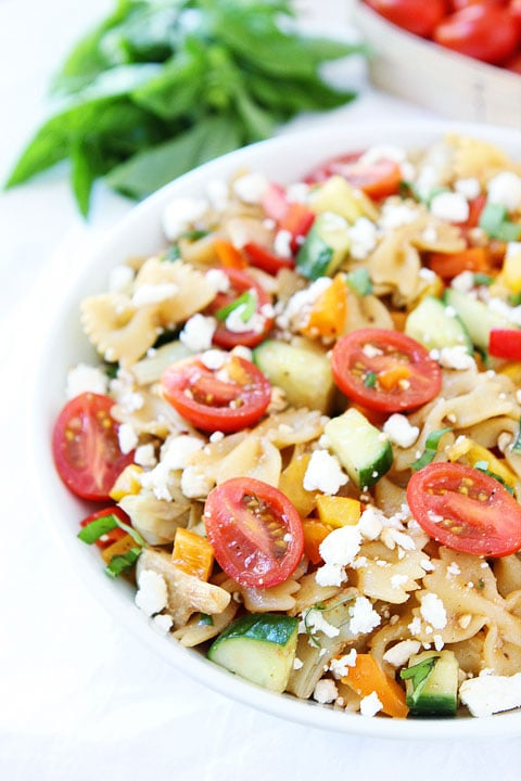 easy summer pasta salad print recipe this easy summer pasta