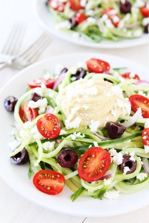 Greek Cucumber Noodles | Cucumber Noodles Recipe | Two Peas & Their ...