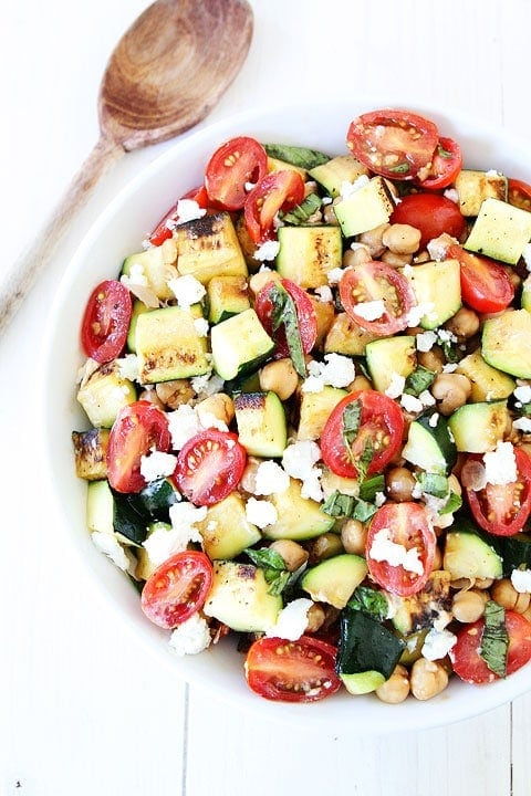 Grilled Zucchini, Chickpea