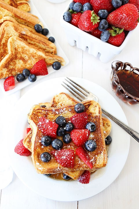 Ice Cream French Toast Recipe on twopeasandtheirpod.com The BEST French Toast recipe! You NEED to make this!