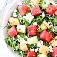 Melon-Arugula-Salad-with-Honey-Lime-Dressing-4