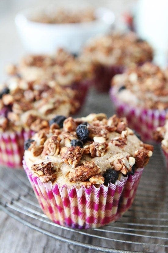 Mixed Berry Granola Muffins-whole wheat muffins dotted with mixed ...
