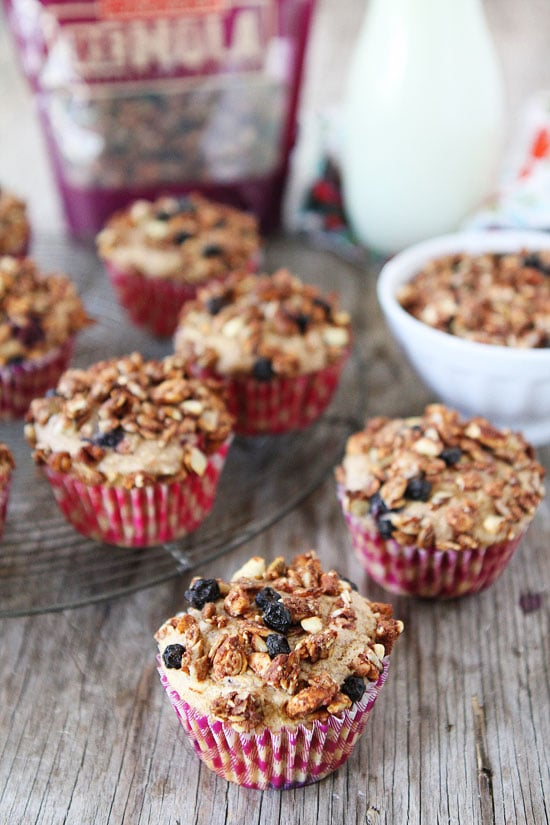 Mixed Berry Granola Muffins Recipe on twopeasandtheirpod.com Love this ...