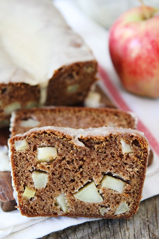 ... Spiced apple bread with a brown butter glaze! This bread is a must