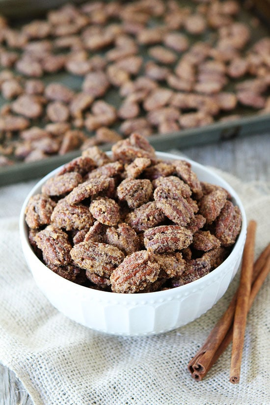 Candied Pecans-an easy recipe for Cinnamon-Sugar Candied Pecans! They ...