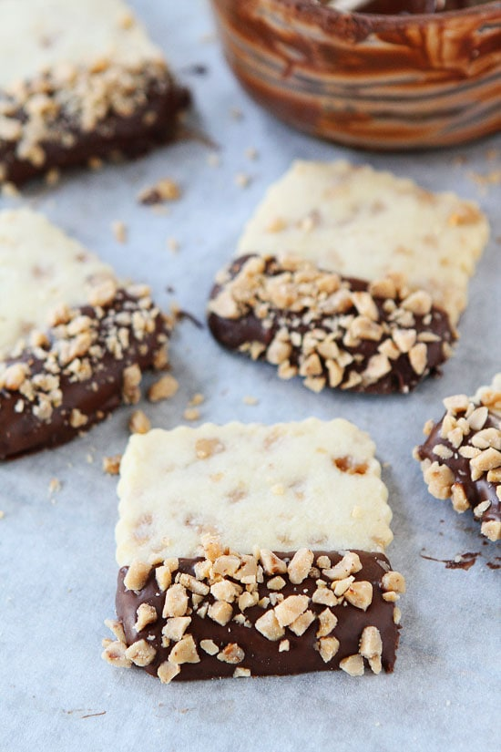 Chocolate Chip And Toffee Shortbread Cookies Recipes — Dishmaps