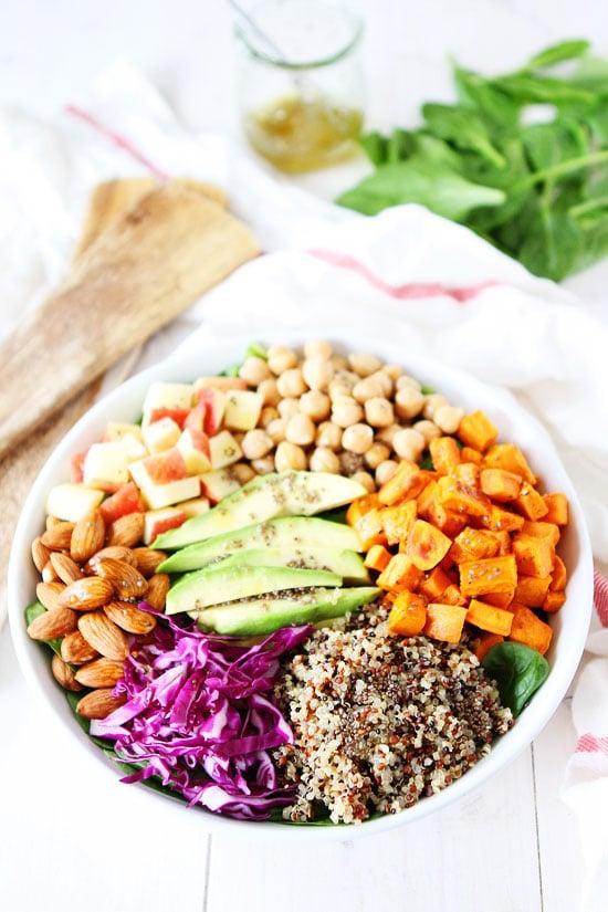 Power Salad with Lemon Chia Seed Dressing Recipe on twopeasandtheirpod ...