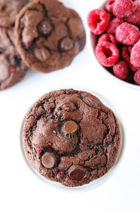 dark chocolate raspberry cookies print recipe chocolate cookies dotted ...