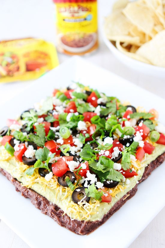 Mexican Layer Dip Recipe on twopeasandtheirpod.com 7 Layer Dip is ...