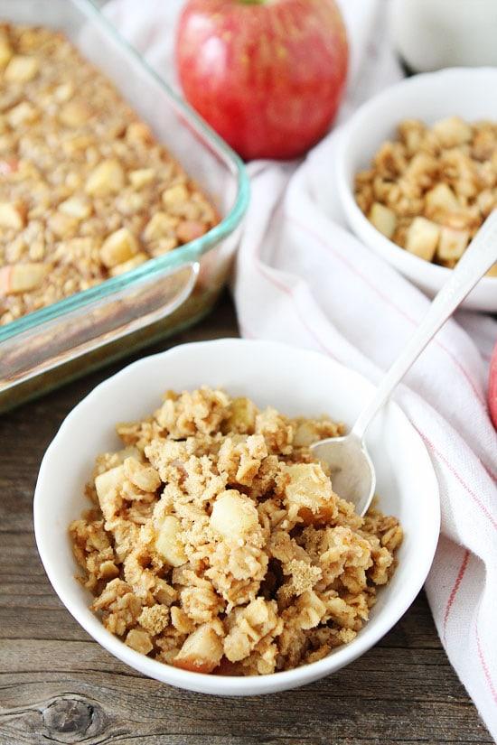 Baked Peanut Butter Apple Oatmeal Recipe