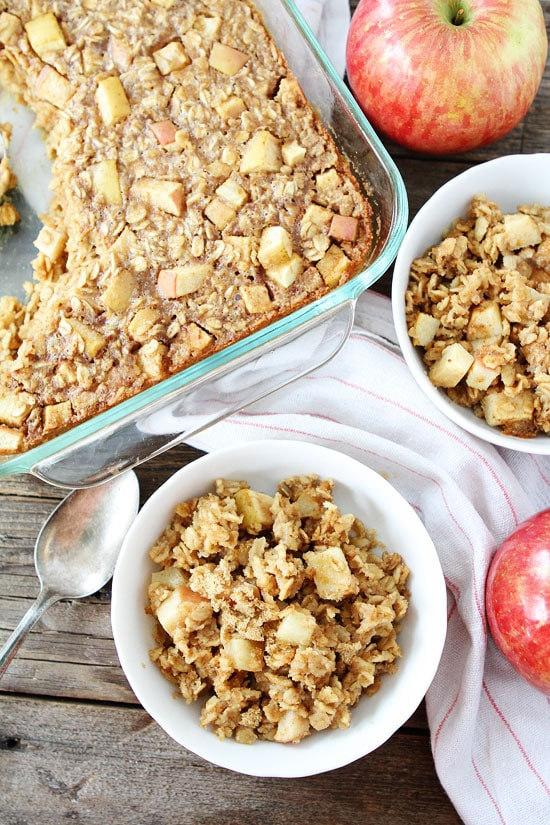 Baked Peanut Butter Apple Oatmeal-this easy baked oatmeal recipe will ...
