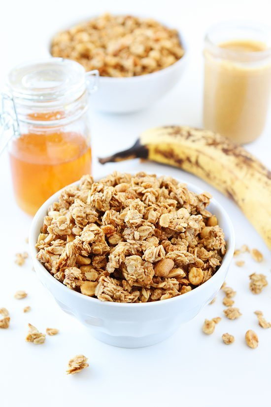 Peanut Butter, Banana, and Honey Granola | Two Peas & Their Pod