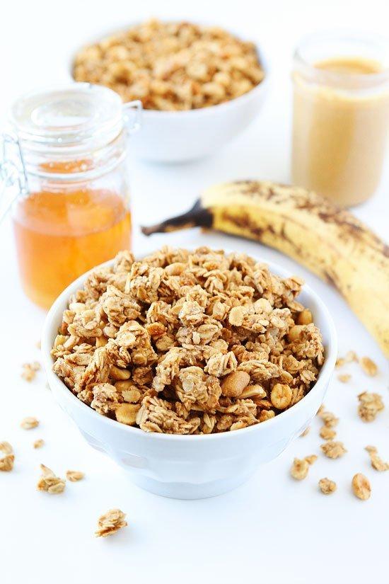 Peanut Butter, Banana, and Honey Granola | Two Peas & Their Pod