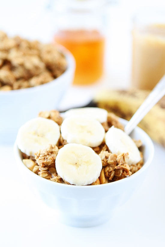 Peanut Butter, Banana, and Honey Granola Recipe on twopeasandtheirpod ...