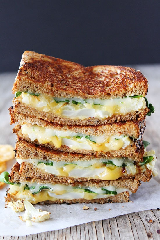Roasted Cauliflower Grilled Cheese Recipe