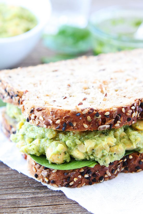 Smashed Chickpea, Avocado, and Pesto Salad | Two Peas ...