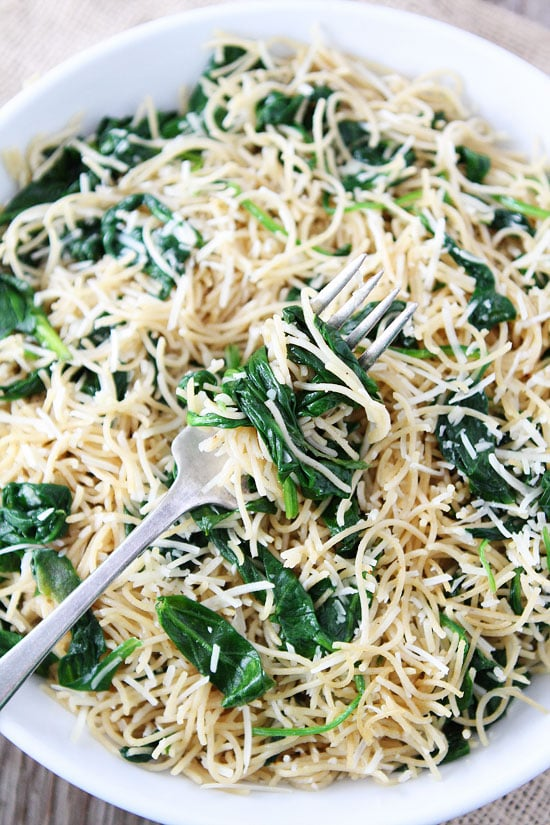 Garlic-Butter Pasta With Spinach And Parmesan Recipes — Dishmaps