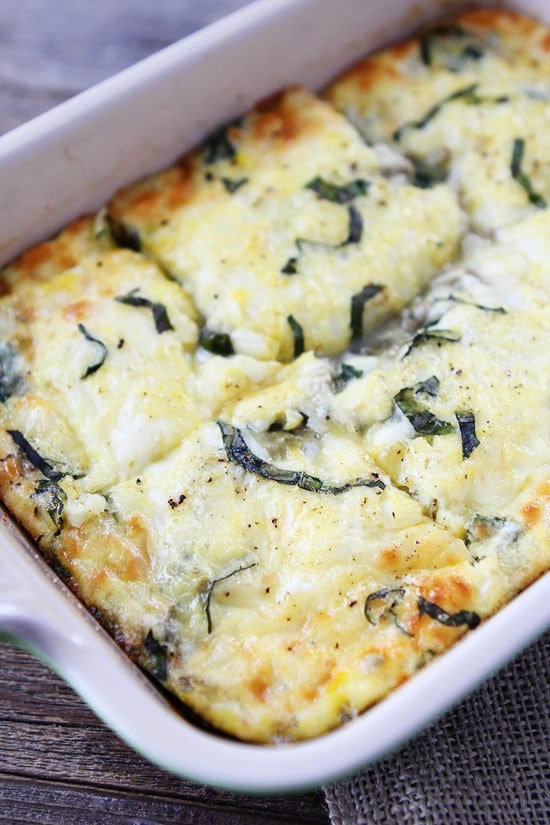 Spinach Artichoke Egg Casserole-this easy egg casserole is great for ...