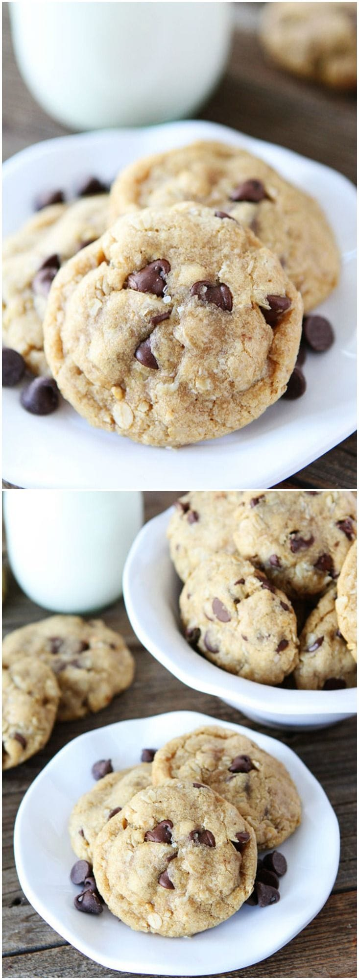 Whole Wheat Oatmeal Chocolate Chip Cookies Made with Coconut Oil on ...