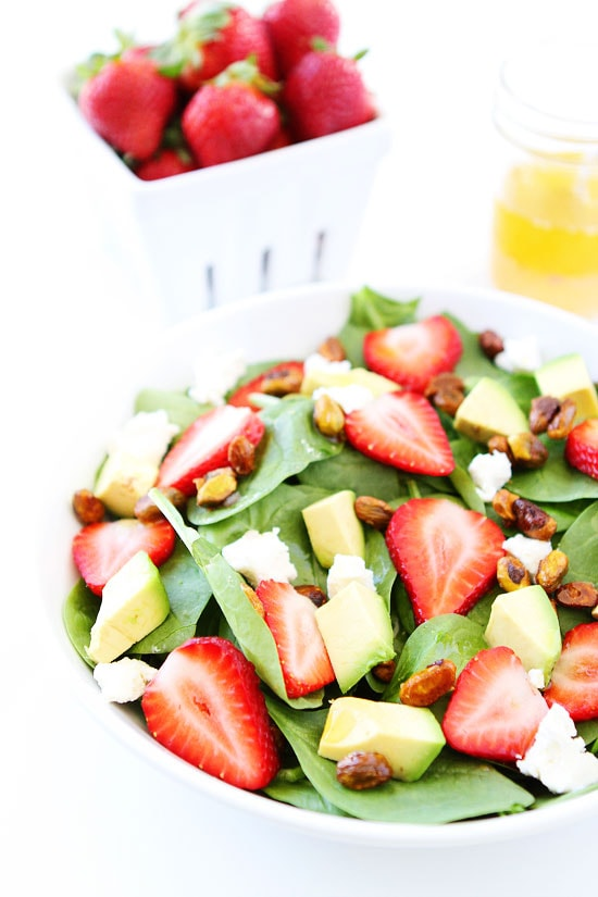 ... Strawberry spinach salads are my favorite and I jazzed this one up by