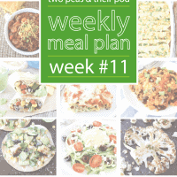 Weekly Meal Plan, Week 11 on twopeasandtheirpod.com Great dinner ideas!