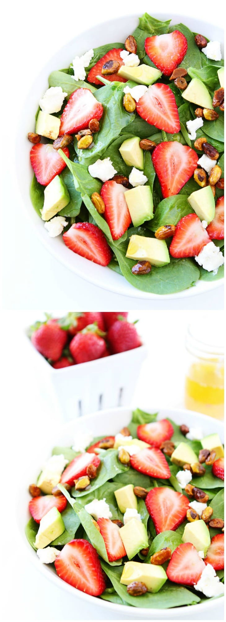 Strawberry Spinach Salad with Avocado, Goat Cheese, and Candied ...