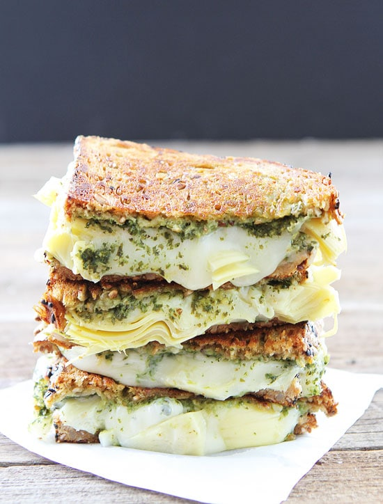 ... Pesto, Artichoke, and Havarti Grilled Cheese. The Gooey Goodness lives