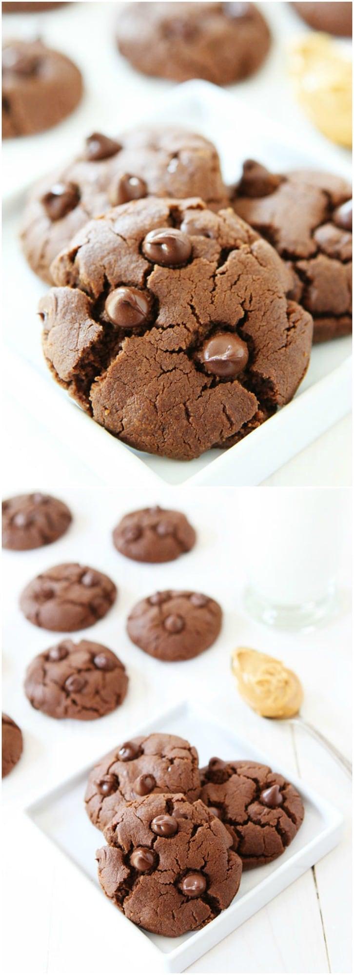 Flourless Chocolate Peanut Butter Cookie Recipe on twopeasandtheirpod ...