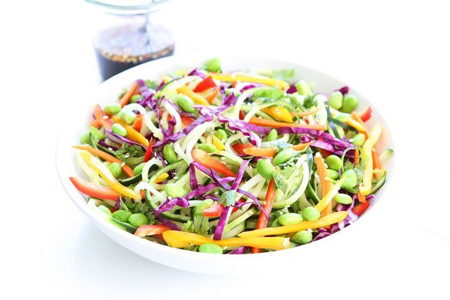 ... Cucumber Noodle Salad. It is guaranteed happiness! This salad will