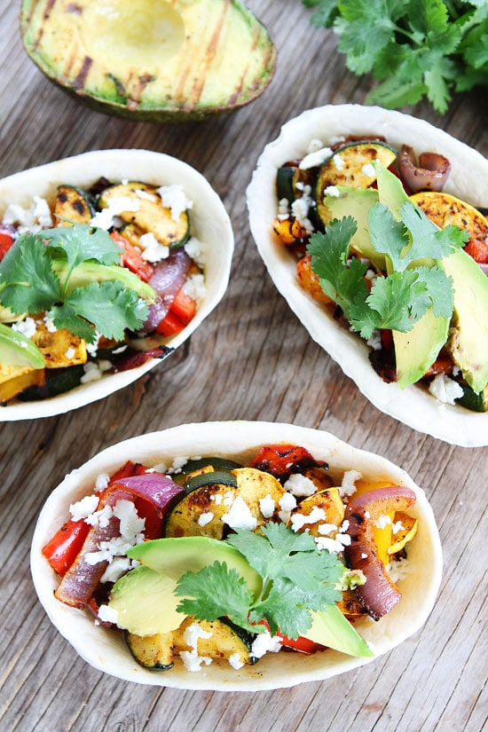 Grilled Avocado and Vegetable Tacos Recipe