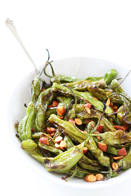 Grilled Shishito Peppers Recipe | Two Peas & Their Pod