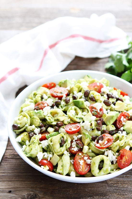 Mexican Tortellini Salad-cheese tortellini with black beans, tomatoes ...