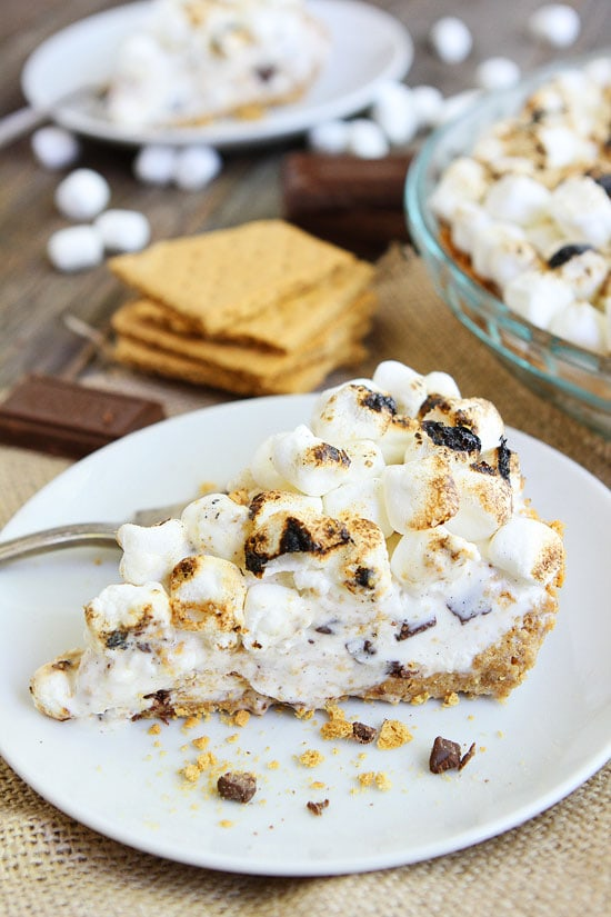 mores Ice Cream Pie-this easy ice cream pie is the perfect dessert ...