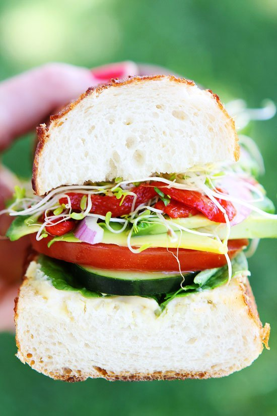 Ultimate Veggie Sandwich-this is the BEST veggie sandwich! It's easy ...