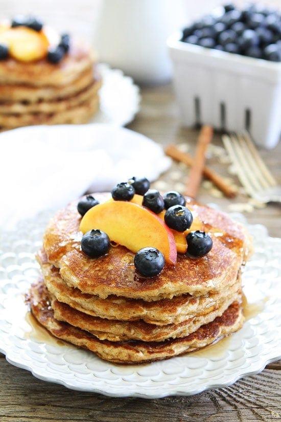 Cinnamon Oatmeal Pancakes Recipe