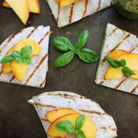 Grilled-Peach,-Pesto,-and-Mozzarella-Quesadillas-4