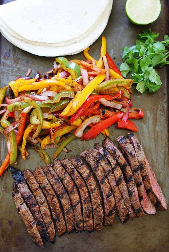 Grilled Steak Fajitas Recipe on twopeasandtheirpod.com Get out the ...