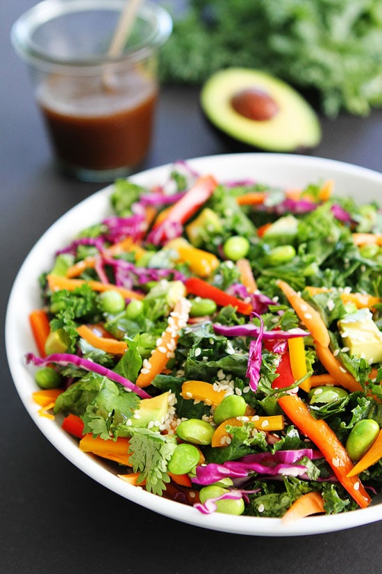 Asian Kale Salad Recipe on twopeasandtheirpod.com We love this simple ...